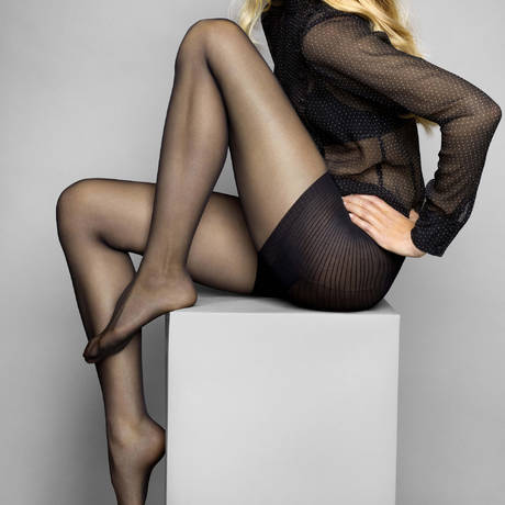 LE BOURGET Collant luxe affinant 20D Héritage Noir