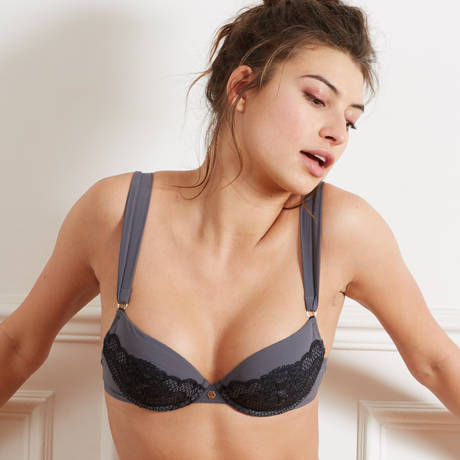 BARBARA Soutien-gorge push-up Jane Gris-Gris