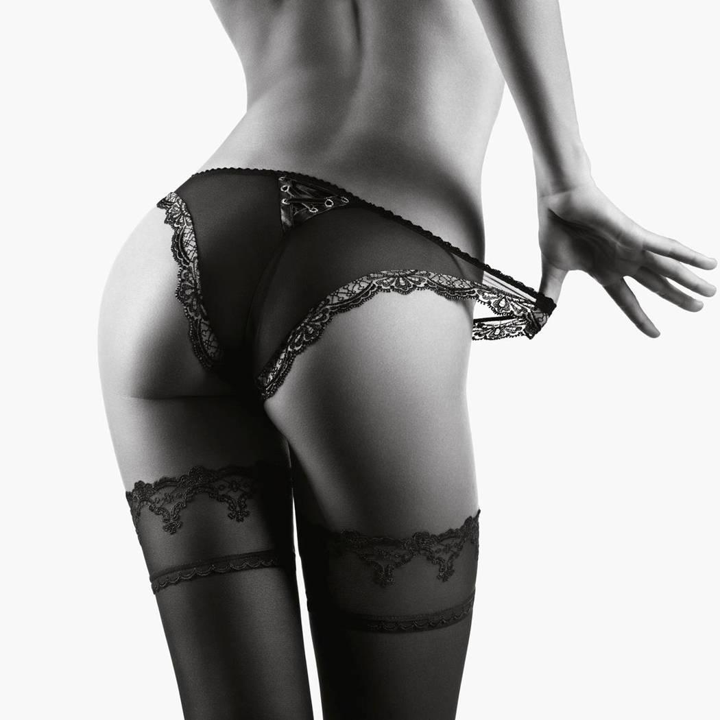 AUBADE Culotte Mini-Coeur Passion Nocturne Noir/Nude