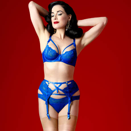 DITA VON TEESE Slip Madame X Electric Blue