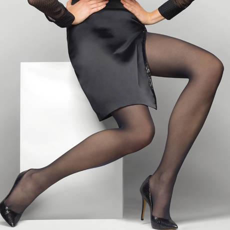 LE BOURGET Collant Nanofibre luxe 30D Héritage Noir