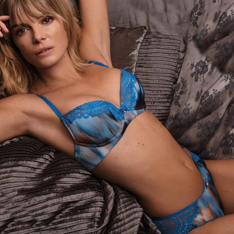 WACOAL Soutien-gorge push-up Chrystalle Blue Lagoon