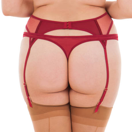 SCANTILLY Porte-jarretelles Peek A Boo Rouge
