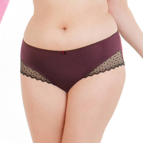 CURVY KATE Shorty Trixie Noir/Aubergine