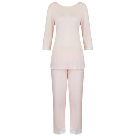 HANRO Pyjama Valencia Crystal Pink
