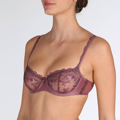MARIE JO Soutien-gorge balconnet coutures verticales Dauphine Lady Shadow
