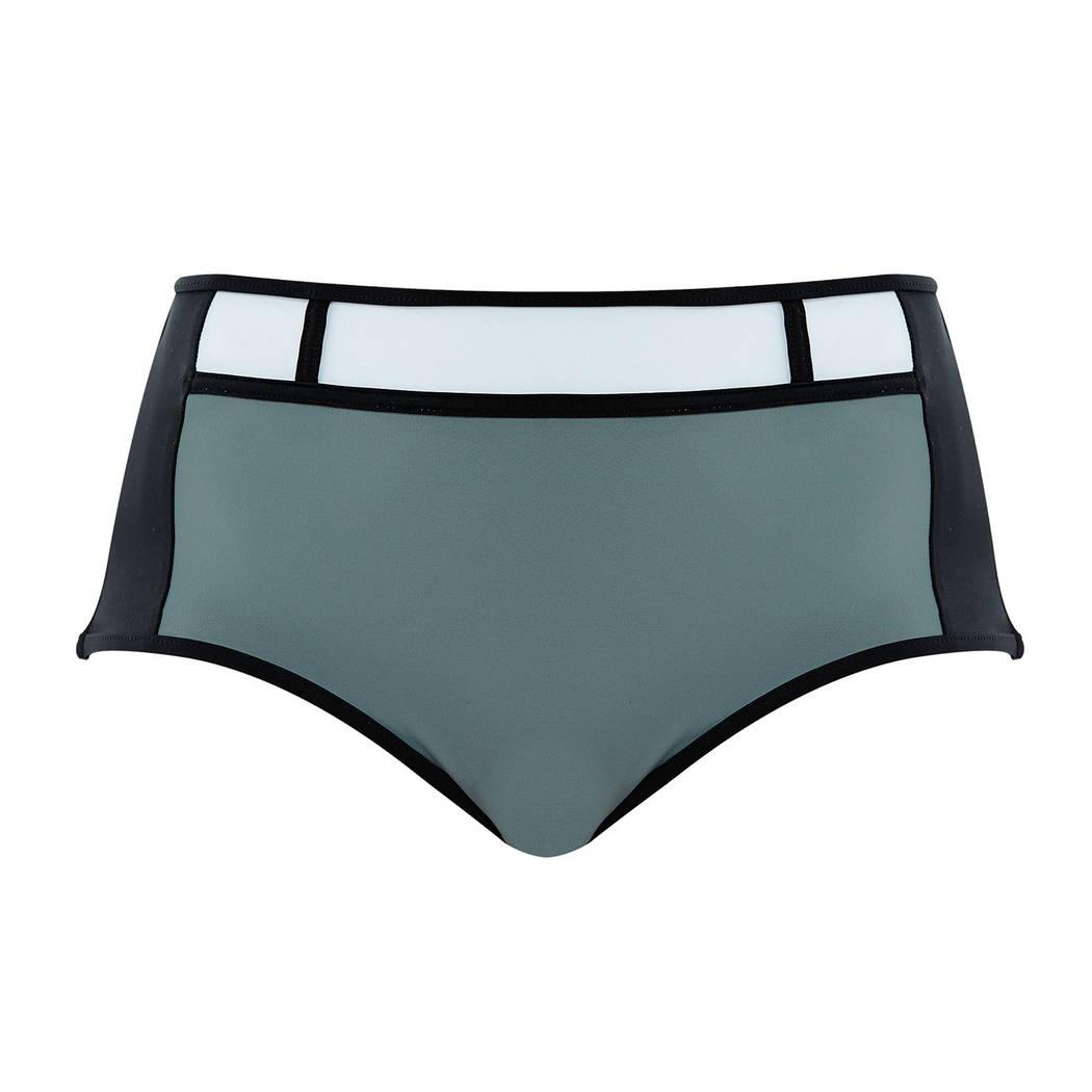 FREYA Maillot de bain slip taille haute Bondi Noir/Gris