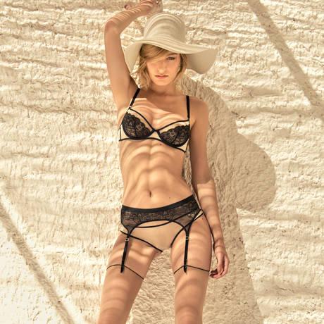 MAISON CLOSE Slip L'Antichambre Nude/Noir