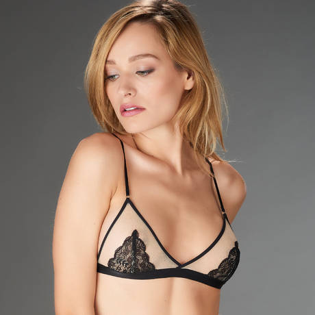 MAISON CLOSE Soutien-gorge triangle L'Antichambre Chair/Noir