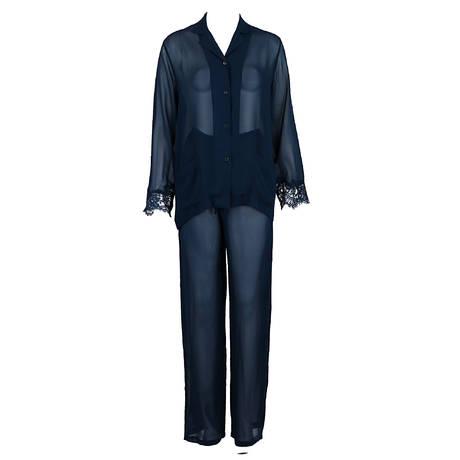 LISE CHARMEL Pyjama en soie Soir de Venise Bleu Venise