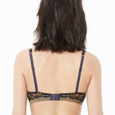 LOU Soutien-gorge triangle coques Merveilleuse Envolée Violet/Jaune