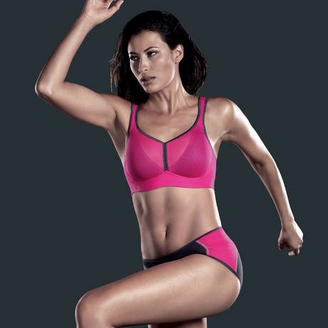 Soutien-gorge sport DynamiX Star Fuchsia Rose/Anthracite