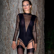 Body string porte-jarretelles Maison Close Liaison Fatale