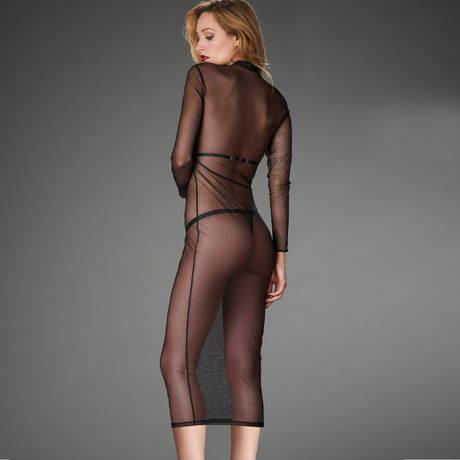 MAISON CLOSE Robe harnais amovible Liaison Fatale Noir
