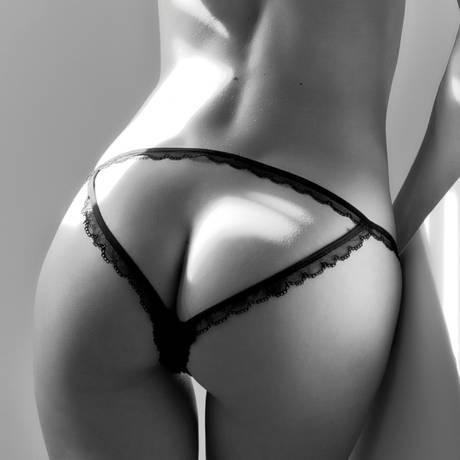 MAISON CLOSE Culotte demie nue Le Petit Secret Dentelle Noir