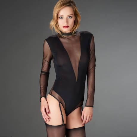 MAISON CLOSE Body string porte-jarretelles Liaison Fatale Noir