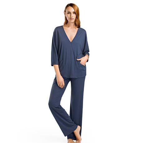 HANRO Pyjama Mona Weak Blue