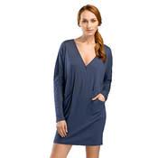Chemise de nuit manches longues en coton Hanro Mona