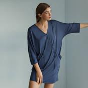 Chemise de nuit manches 3/4 en coton Hanro Mona