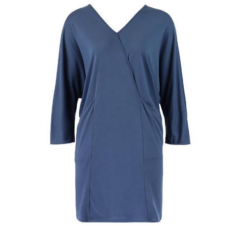 HANRO Chemise de nuit manches 3/4 Mona Weak Blue