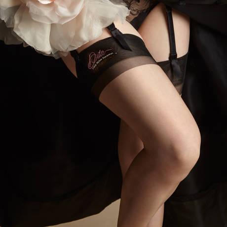 DITA VON TEESE Bas nylon Reinforced Heel & Toe Beige
