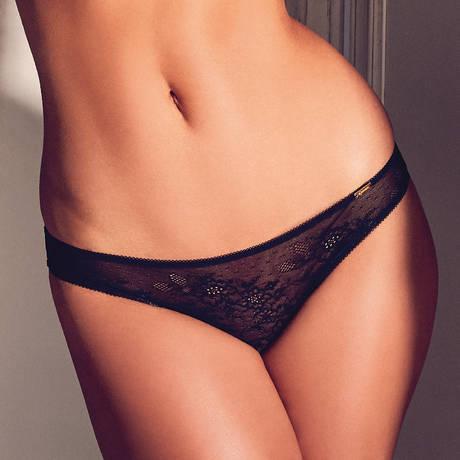 GOSSARD Slip Glossies Lace Noir