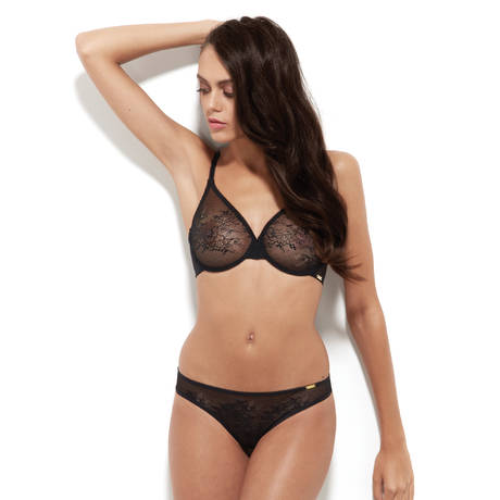 GOSSARD String Glossies Lace Noir