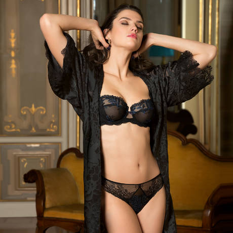 LISE CHARMEL Slip séduction Caresse Fougère Noir Saphir