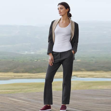HANRO Pantalon Nell Anthracite/Beige