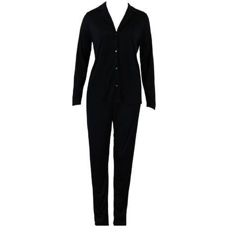 HANRO Pyjama Estelle en modal et soie Noir