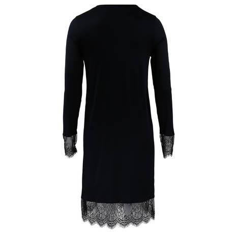 HANRO Chemise de nuit en modal et soie Estelle Noir