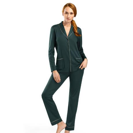 HANRO Pyjama Florentine en modal et soie Pin