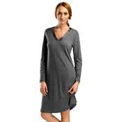 Chemise de nuit à manches longues en coton et modal Hanro Ivy