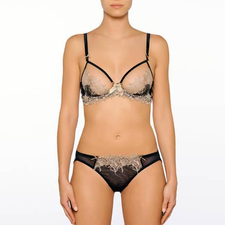 MILLESIA Slip sexy Désir Noir Nude