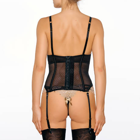 MILLESIA Guêpière Désir Noir Nude