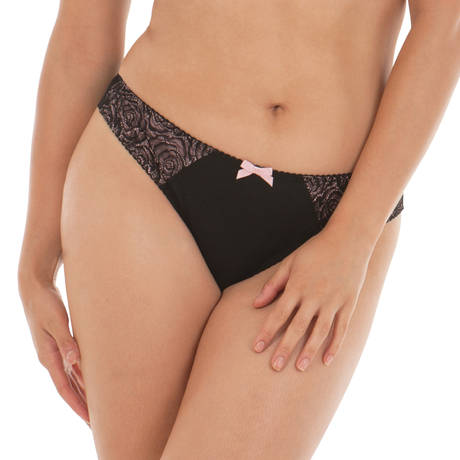 CURVY KATE Slip Can Can Noir/Blush