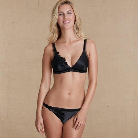 SIMONE PÉRÈLE Soutien-gorge triangle sans armatures Haute Couture Noir