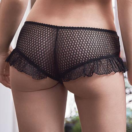 LES JUPONS DE TESS Shorty Flirt Noir/Lipstick