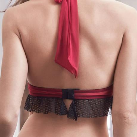 LES JUPONS DE TESS Soutien-gorge triangle Flirt Noir/Lipstick