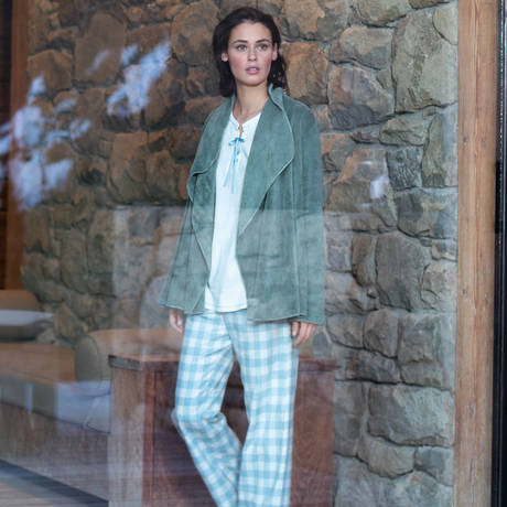 LE CHAT Pyjama Louison Ecru/Topaze