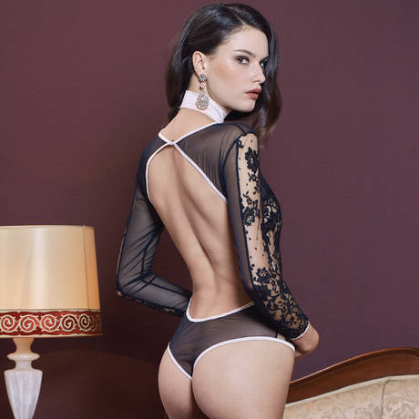LES JUPONS DE TESS Body Blush Noir/Rose Poudre