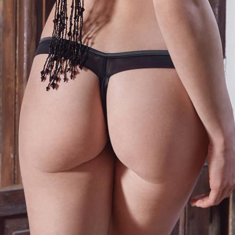 LES JUPONS DE TESS String Sparkles Noir