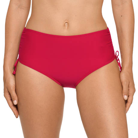 Maillot de bain slip taille haute Cocktail Red Captain