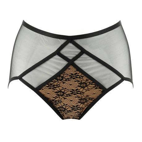 DITA VON TEESE Culotte haute Exotique Noir/Beige
