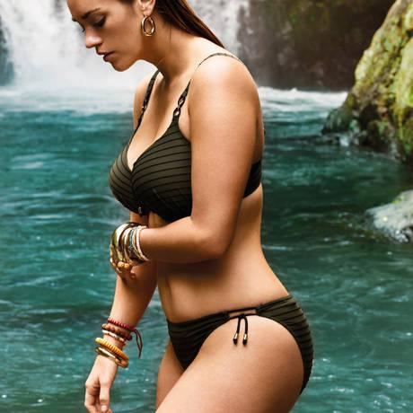 PRIMADONNA Maillot de bain slip taille basse Sherry Kaki