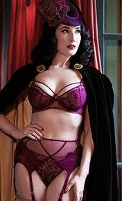 Dita Von Teese Maestra Aubergine/Nude