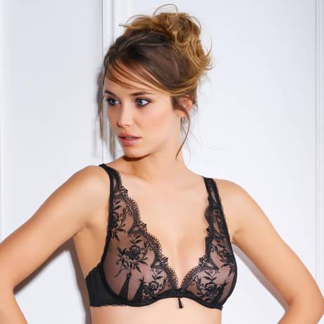 MILLESIA Soutien-gorge triangle Cravache Noir