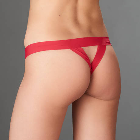MAISON CLOSE String ouvert Tapage Nocturne Rouge