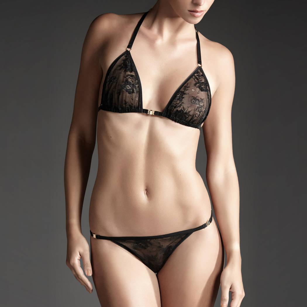 ATELIER AMOUR Soutien-gorge triangle sans armatures Irrésistible Attraction Noir