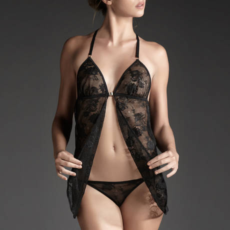 ATELIER AMOUR Babydoll Irrésistible Attraction Noir